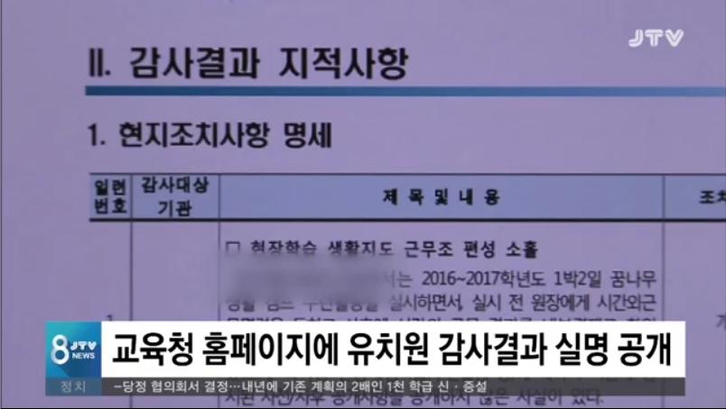 [18.10.25 JTV] 전북교육청, 유치원 감사결과 실명공개...175건 적발3.jpg