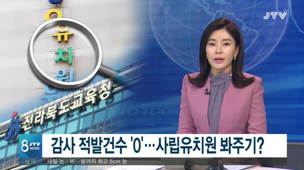 [19.3.14 JTV] 전북교육청 감사 적발 0건...사립유치원 봐주기1.png