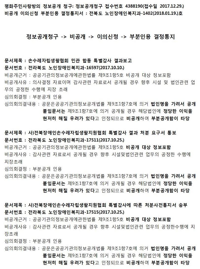 전북도가 비공개한 손수레 감사결과 정보는.jpg