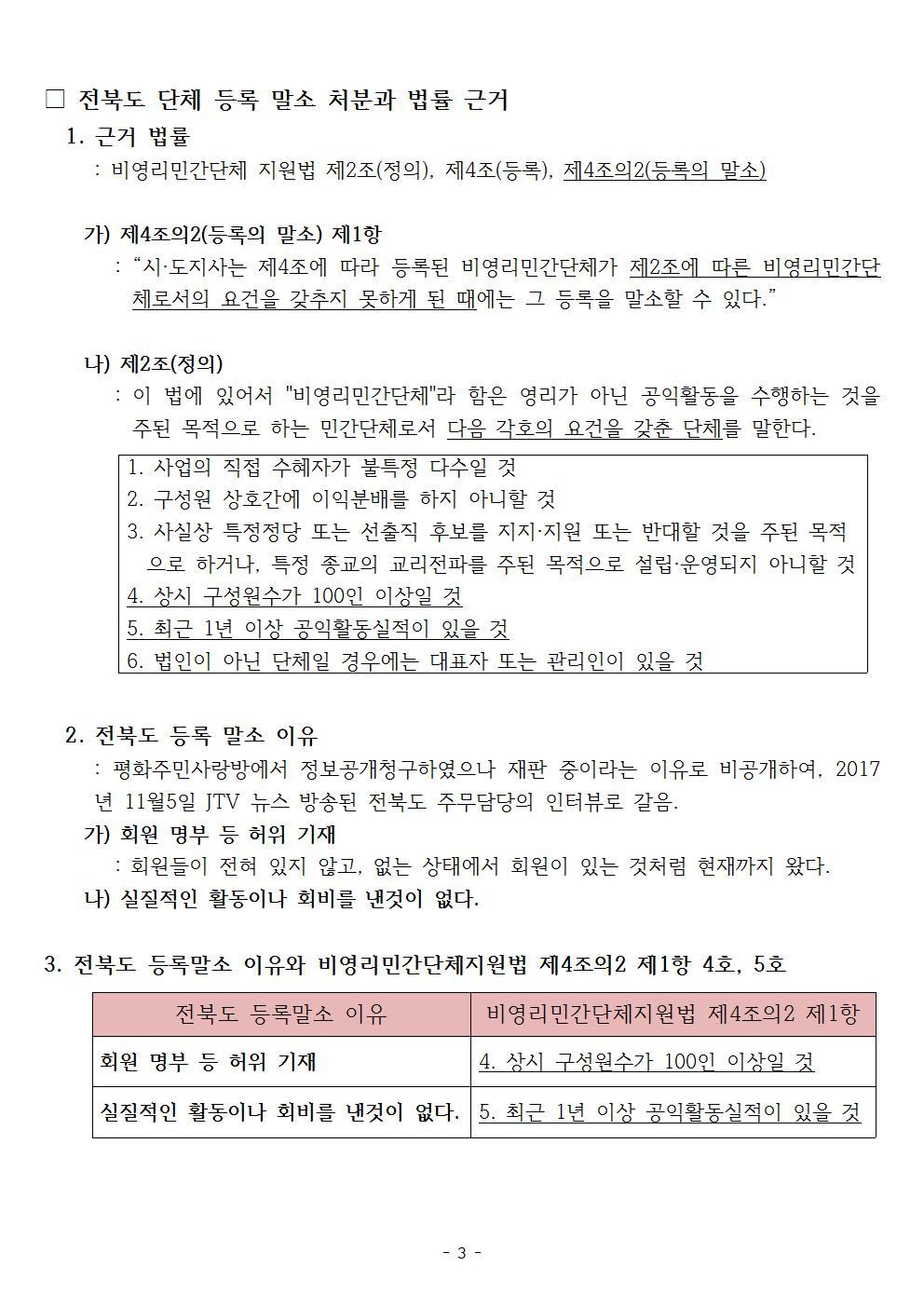 [전북 봉침게이트] 피고(전북도 민주당 송하진 지사) 소송 대응이 아쉽다003.jpg